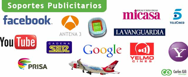 Soportes Publicitarios Offline y Online