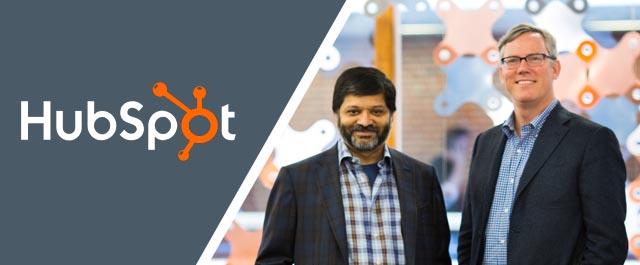 Dharmesh Shah y Brian Halligan de Hubspot