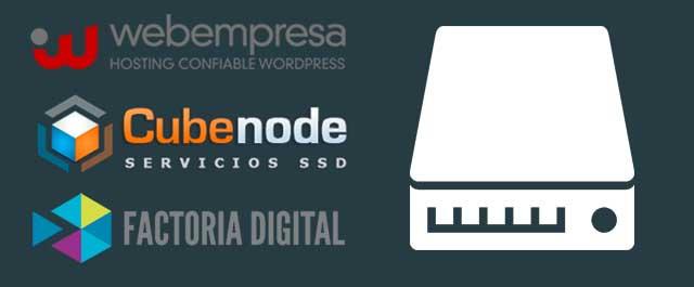 logos de empresas que usan discos ssd en su hosting
