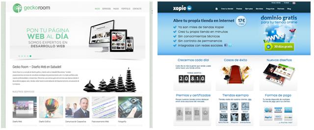 ienda Online Xopie y Diseño Web GeckoRoom en Sabadell Terrassa Sant Cugat