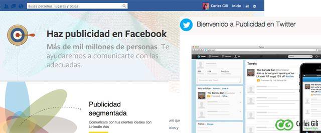 Ejemplo Publicidad Online en Redes Sociales