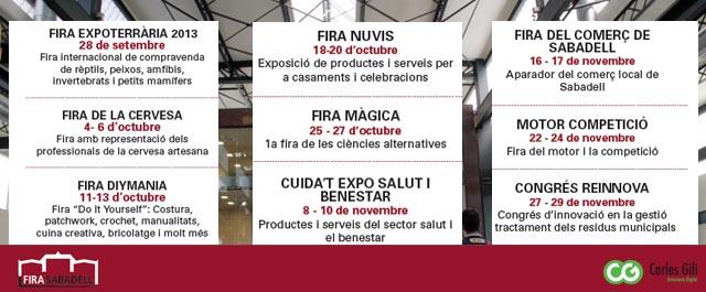 Fira de Sabadell propers esdeveniments
