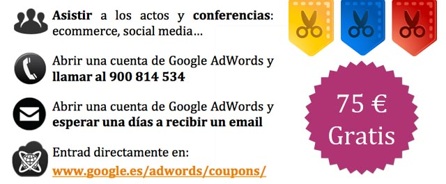 cupon google campañas adWords