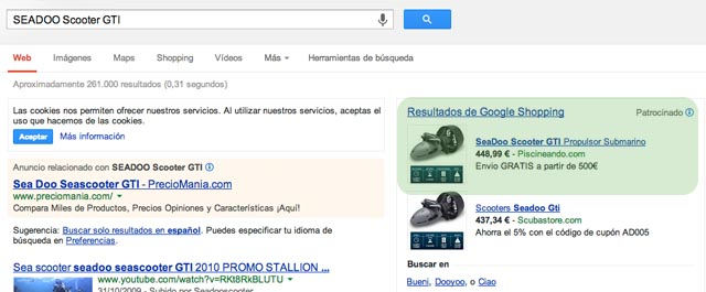Google Shooping NO va por Keywords piscineando